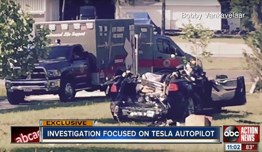 wypadek testli spowodowany autopilotem